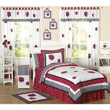 Little Ladybug Bedding Set - 4 Piece Twin Size By Sweet Jojo Designs