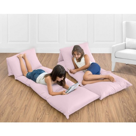Solid Pink Pillow Case Lounger