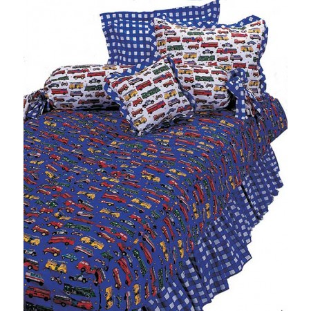 Mack Truck Bunk Bed Hugger Comforter by California Kids - White Truck Print