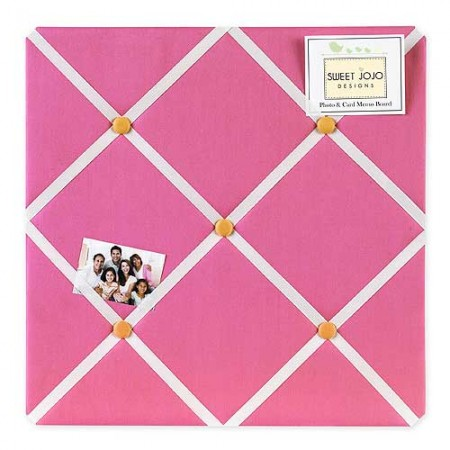 Butterfly Pink & Orange Fabric Memo Board