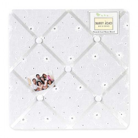 White Eyelet Fabric Memo Board