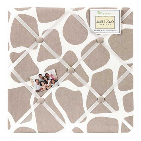 Giraffe Fabric Memo Board by Sweet Jojo Designs