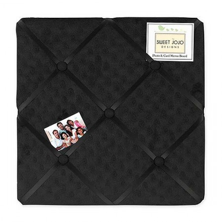 Minky Dot Black Fabric Memo Board