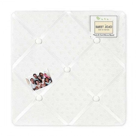 Minky Dot White Fabric Memo Board
