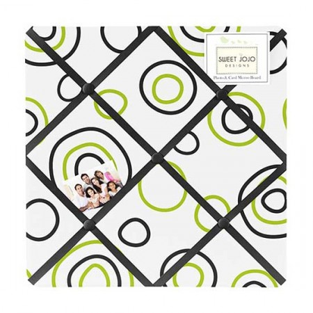 Spirodot Lime Fabric Memo Board