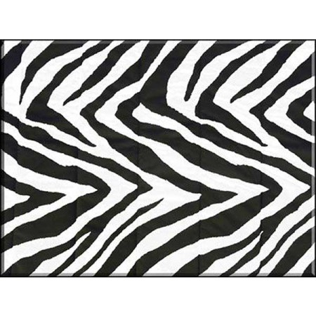 Black & White Zebra Print 18 X 18 Square Pillow by Mayfield