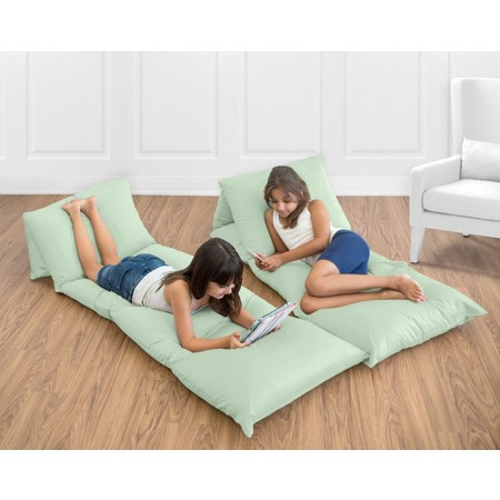 Solid Mint Pillow Case Lounger