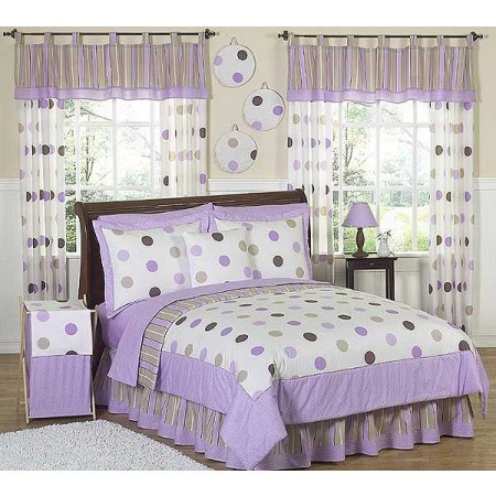 Lavender Mod Dots Comforter Set - 3 Piece Full/Queen Size By Sweet Jojo Designs