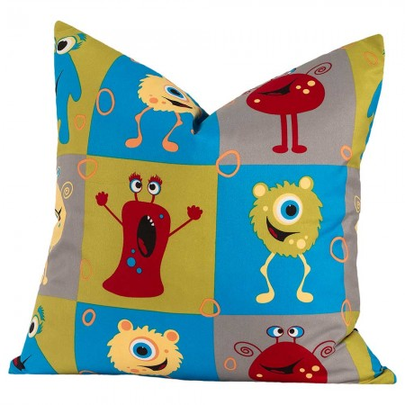Crayola Monster Friends Square Pillow - 16 X 16 Square