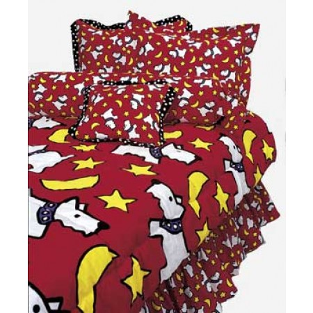 Moon Doggie Red Scotty Print (small print) Bunkbed Hugger Comforter by California Kids (Clearance)