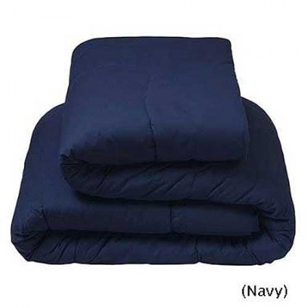 Navy Blue Flannel Waterbed Comforter - Super Single - Clearance