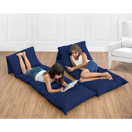 Solid Navy Blue Pillow Case Lounger
