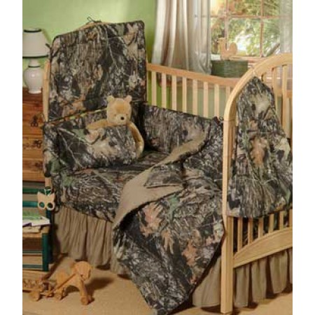 Mossy Oak New Break Up Camouflage Crib Bedding Set - 3 Piece