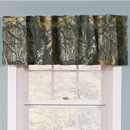 Mossy Oak New Break Up Camouflage Window Valance