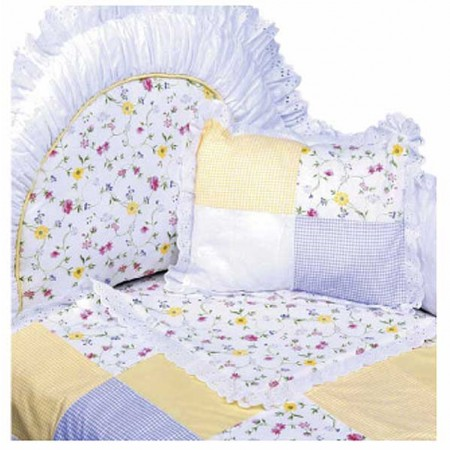 Nantucket 4 Piece Crib Bedding Set (Standard Bumper) by California Kids