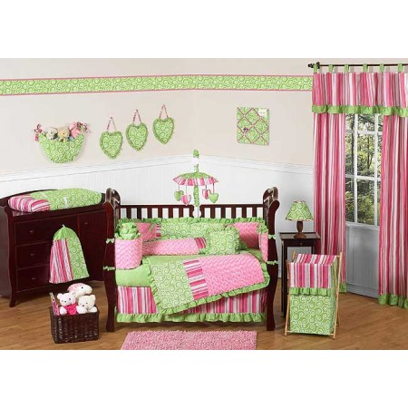 Olivia Crib Set by Sweet Jojo Designs - 9 piece