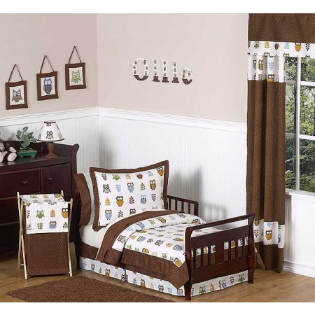 Owl Toddler Bedding Set By Sweet Jojo Designs