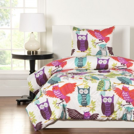 Crayola Owl Always Love You Bunkie Set Twin Size - Includes Pillow Sham