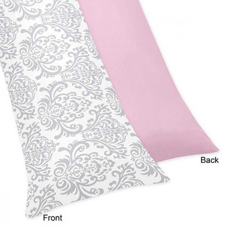 Pink & Gray Elizabeth Body Pillow Cover