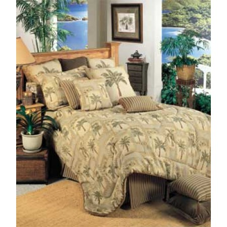 Palm Grove Tropical California King Comforter Set
