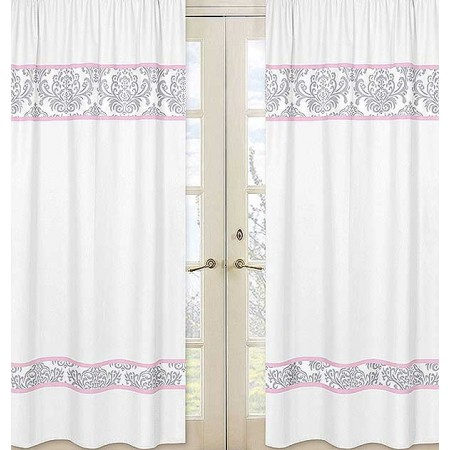 Pink & Gray Elizabeth Window Panels