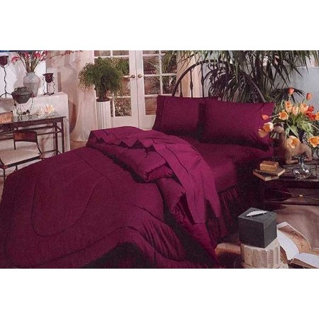 200 Thread Count Two-Tone Reversible Solid Color Comforter - Choose from 20 Colors