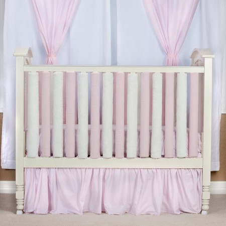 Wonder Bumper Vertical Crib Liners - Pink & Cream - 38 Pack