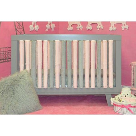 Wonder Bumper Vertical Crib Liners - Pink & Grey - 38 Pack