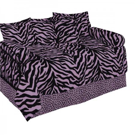 Zebra Print Daybed Bedding Set - Available in 6 Color Combinations
