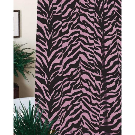Pink Zebra Print Shower Curtain