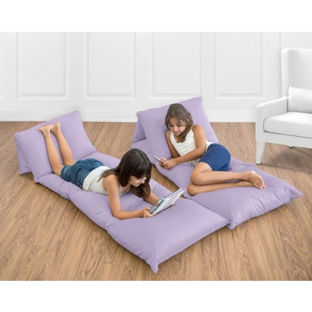 Solid Lavender Pillow Case Lounger