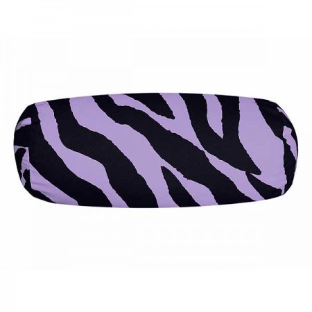 Black & Purple Zebra Neckroll Pillow