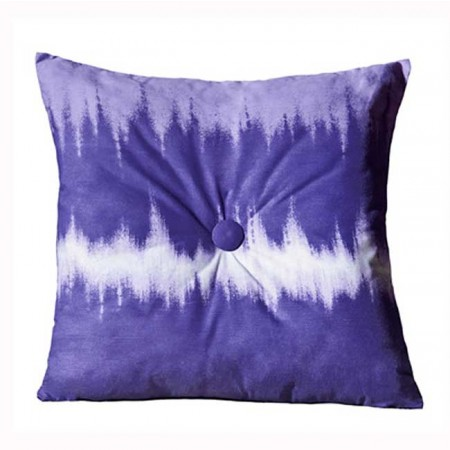 Purple Tie Dye 18 X 18 Square Pillow