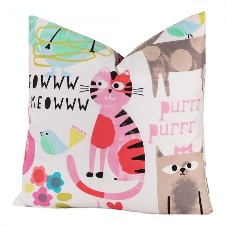 Crayola Purrty Cat Square Pillow - 26 X 26 Euro Pillow