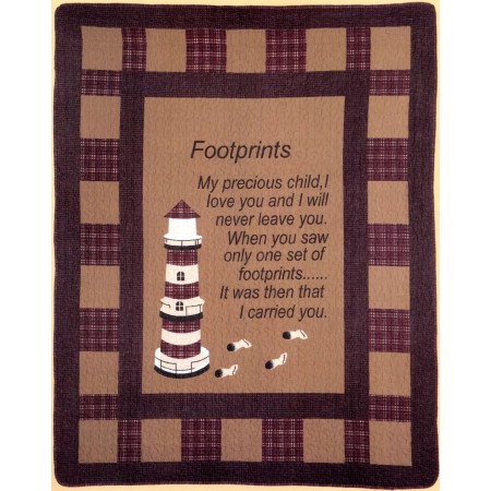 Footprints Throw Size Quilt