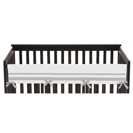 Hotel White & Gray Collection Long Rail Guard Cover