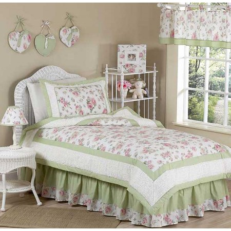 Rileys Roses Bedding Set - 4 Piece Twin Size By Sweet Jojo Designs