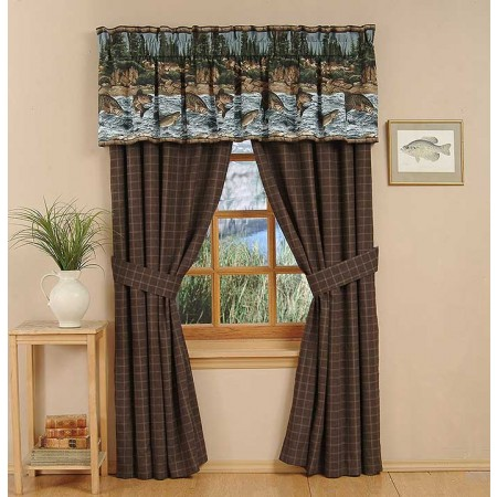 River Fishing Curtain Panels