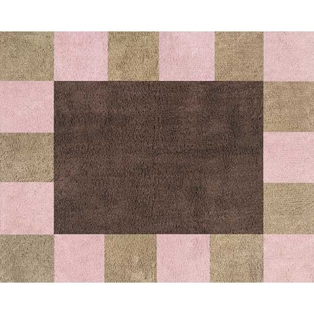 Soho Pink and Brown Floor Rug