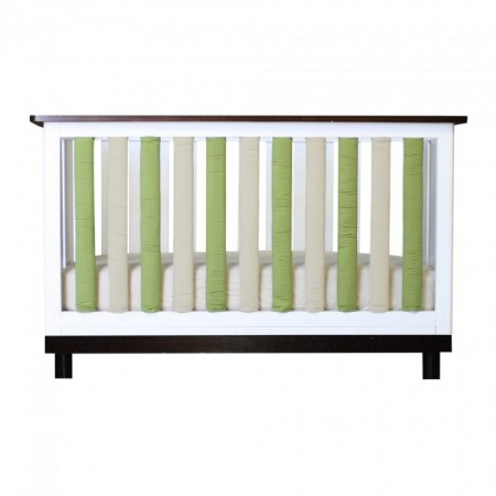 Wonder Bumper Vertical Crib Liners - Sage Green & Khaki - 38 Pack