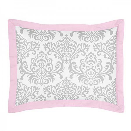 Pink & Gray Elizabeth Pillow Sham