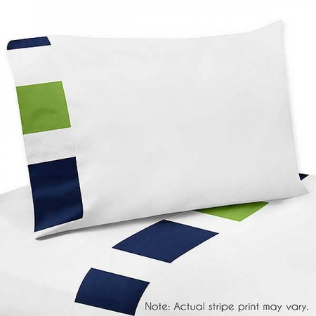Navy & Lime Stripe Sheet Set