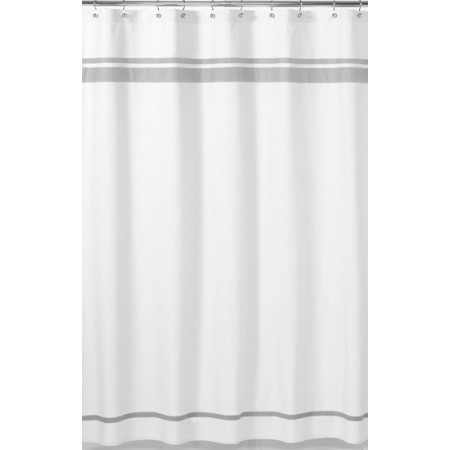 Hotel White & Gray Shower Curtain