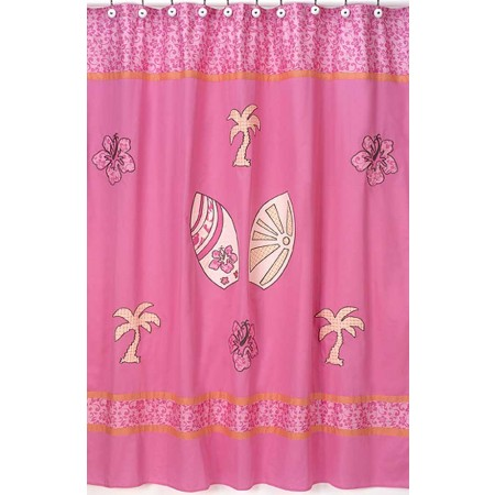Surf Pink and Orange Shower Curtain