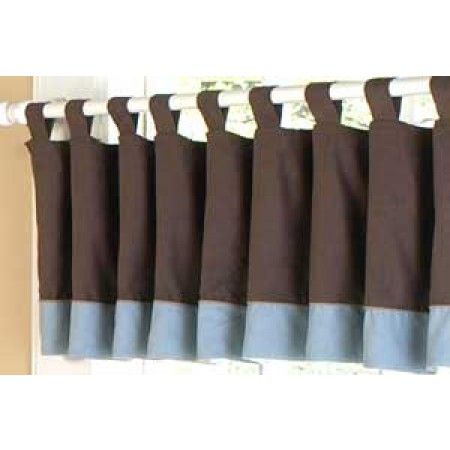 Soho Blue and Brown Valance
