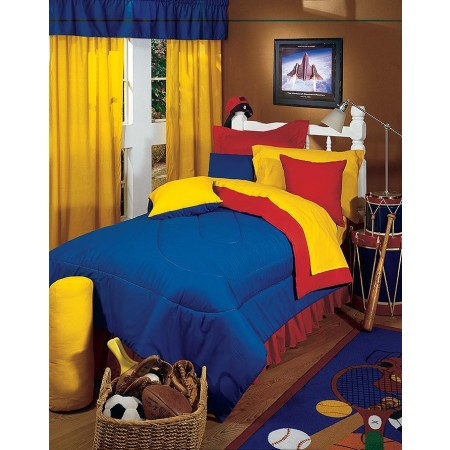 Yellow/Blue Comforter - Twin Size from the Primary Colors Collection