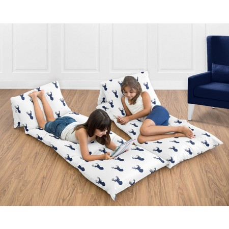 Stag Navy Blue & White Pillow Case Lounger