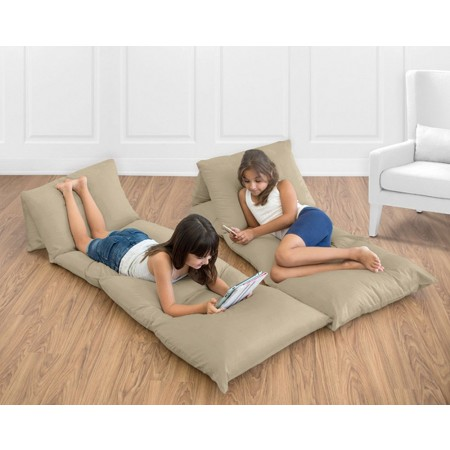 Solid Taupe Pillow Case Lounger