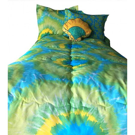 Tie Dye Lime Bunkbed Hugger Comforter by California Kids