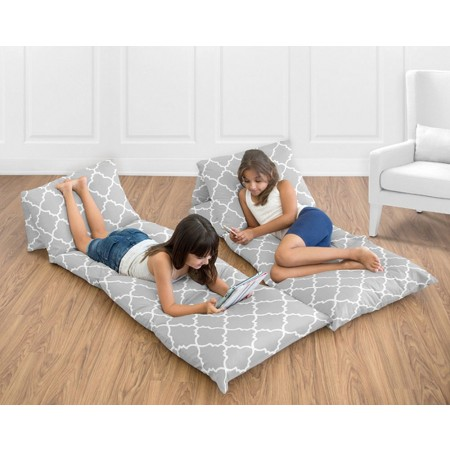 Trellis Gray & White Pillow Case Lounger